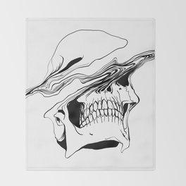 Skull #2 (Liquify) Throw Blanket