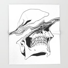 Skull (Liquify) Throw Blanket