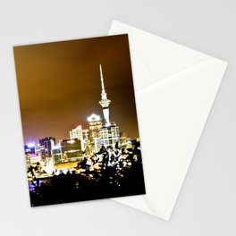 Auckland. Night Time 3 Stationery Cards