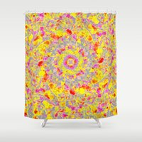 psychedelic Shower Curtains featuring Psychedelic by Sandra Arduini