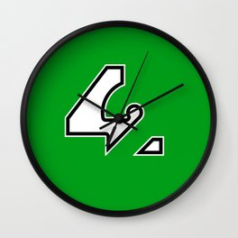 42 - Green Wall Clock