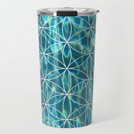 Flower of life in the water Travel Mug