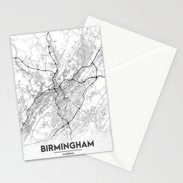 Minimal City Maps - Map Of Birmingham, Alabama, United States Stationery Cards