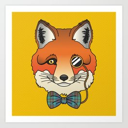 Dapper Fox Art Print