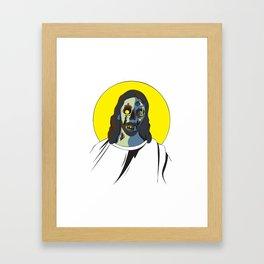 Zombie Jesus Framed Art Print