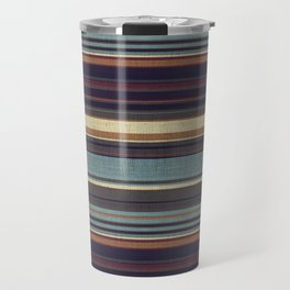 """Blue lines burlap"" Travel Mug"