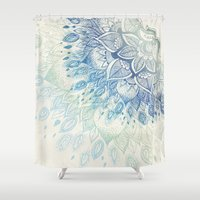 dahlia Shower Curtains featuring Dahlia by rskinner1122