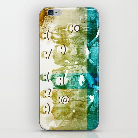 the semicolon sisters iPhone & iPod Skin