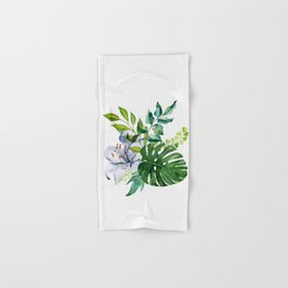 Flower and Leaves Hand & Bath Towel