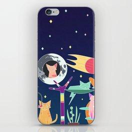 Alien Cat Tower iPhone Skin