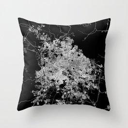 Guadalajara map Throw Pillow