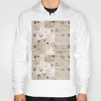letters Hoodies featuring Old Letters by LebensART
