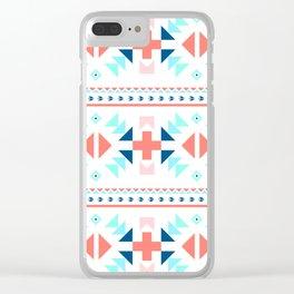 geometry navajo pattern Clear iPhone Case