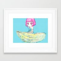 karl lagerfeld Framed Art Prints featuring Fashion - Japanese, Karl Lagerfeld and Chanel by Smog
