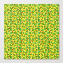 Cactus Me Outside (Yellow) Canvas Print