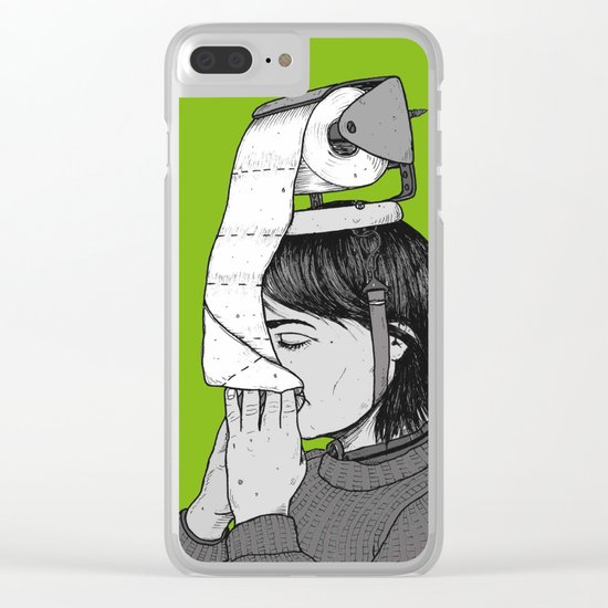 PAPER HAT Clear iPhone Case