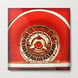 Red T-Bird Metal Print