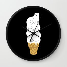 The Melting Polar Wall Clock