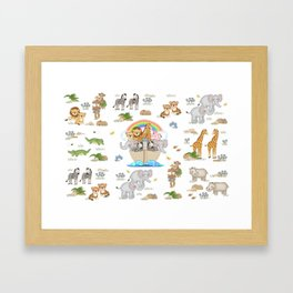 Noahs Ark Animals Framed Art Print