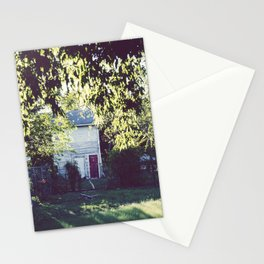 Across the yard... Stationery Cards