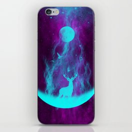 Enlightened Forest | Spirit Deer | Moon and Antlers | Space Deer iPhone Skin