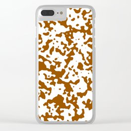 Spots - White and Brown Clear iPhone Case