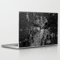 kansas Laptop & iPad Skins featuring Kansas City map by Line Line Lines