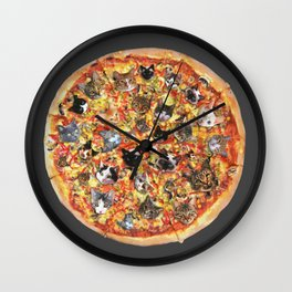 If the internet was a pizza... Wall Clock
