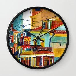 Lisbon area next to Calcada de Sao Vicente Wall Clock
