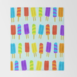 Colorful Popsicles Pattern Throw Blanket