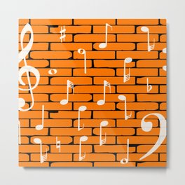 Music Wall Background Metal Print