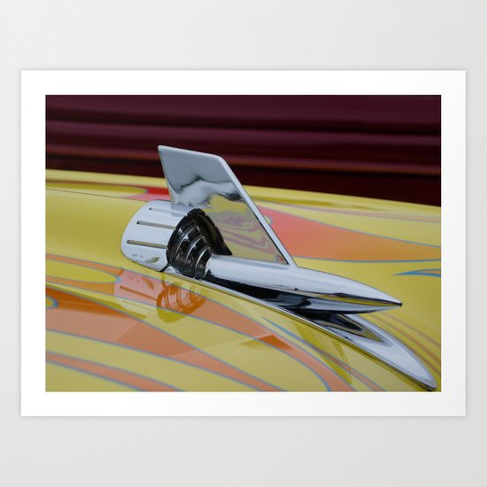 Rocket with Pinstripes Art Print