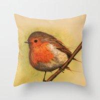 birdy Throw Pillows featuring Birdy by ioanazdralea