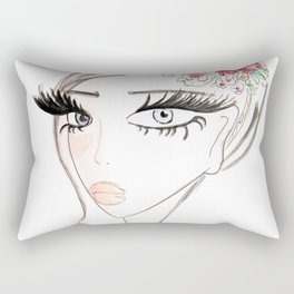 Flowers in  the hair Rectangular Pillow