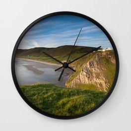 Rhossili bay Wall Clock