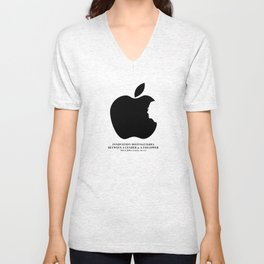 Steve Jobs (1955-2011): Innovation Distinguishes Between A Leader & A Follower Unisex V-Neck