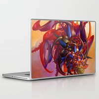 sci fi Laptop & iPad Skins featuring Sci-fi insect by Gaspar Avila