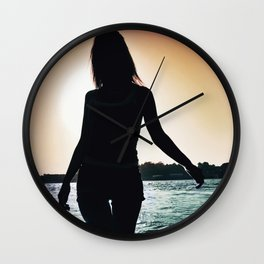 I Turn Around And You're On Fire Wall Clock