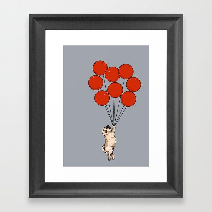 I Believe I Can Fly Pug Gerahmter Kunstdruck