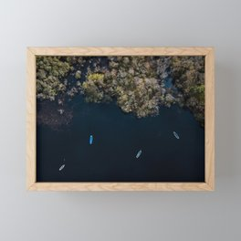 Drone photography | Aerial in Ireland above a lake Framed Mini Art Print