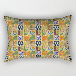 Narrative and Symbolic Signs Pattern Rectangular Pillow