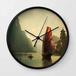 Traveler through time Wall Clock
