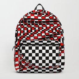 black white red Backpack