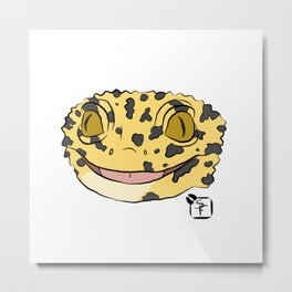 Leopard Gecko Metal Print