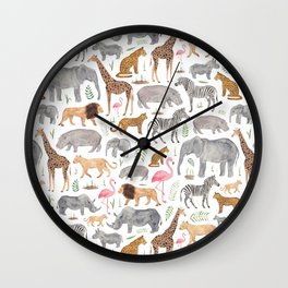 Safari Animals Wall Clock