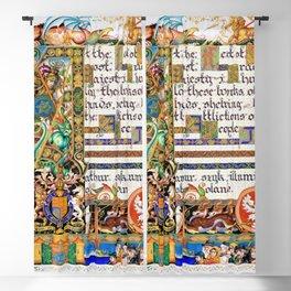 12,000pixel-500dpi - Arthur Szyk - The Haggadah, Dedication to King George VI - Digital Remastered Blackout Curtain