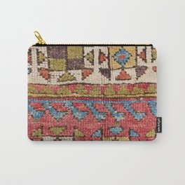 Octagon Stars // 19th Century Colorful Classic 1970s Brown Green Orange Pallete Ornate Accent Patter Carry-All Pouch