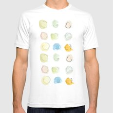 Abstract dots  Mens Fitted Tee White MEDIUM