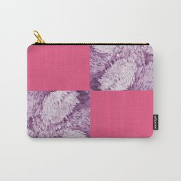 Season of the Square - Cerise check Carry-All Pouch