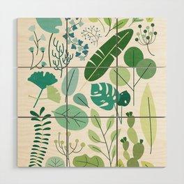 Botanical Chart Wood Wall Art